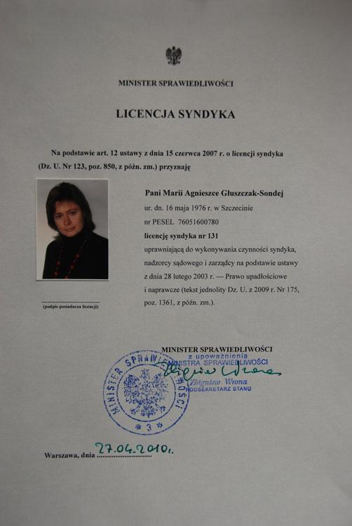 Licencja Syndyka